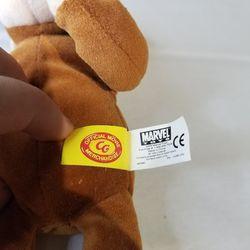 "2005 Marvel Plush Beanie 8"" Curious George Movie Classic Monkey Sewn Eyes Thumbnail"