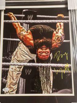 Bray Wyatt signed autographed framed 11x14 photo WWE champion Wyatt Family The Fiend JSA coa Thumbnail