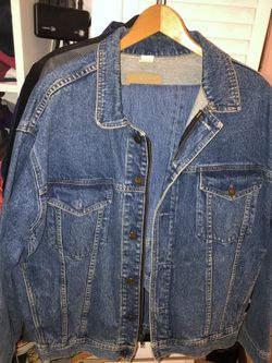 One-of-a-kind handpainted denim jacket + 2 pair matching boot cut jeans Thumbnail