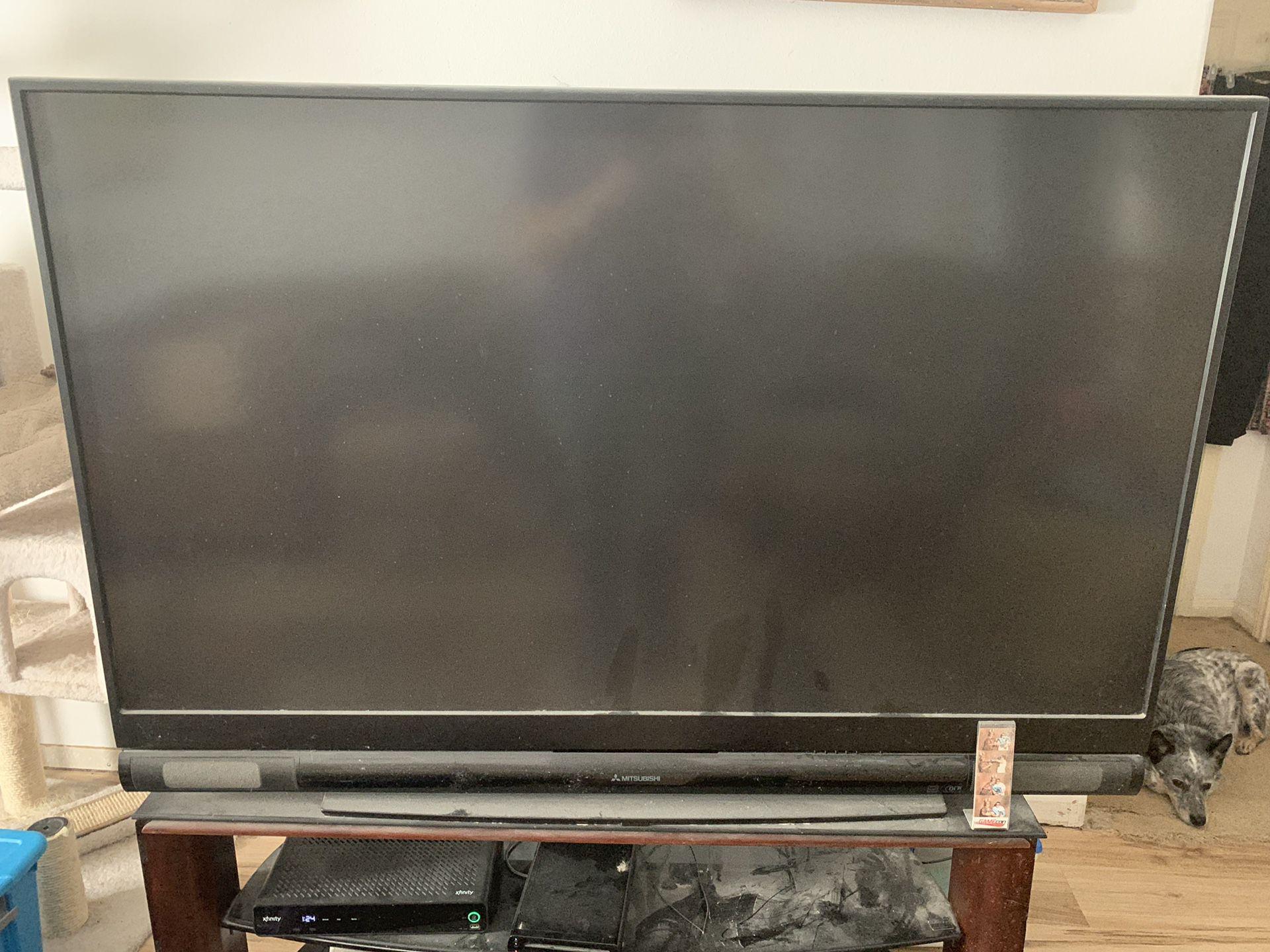65 inch DLP Mitsubishi TV