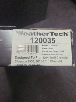 Weather Tech No Drill Mudflap 14-15 Gmc Seirra 1500 Front And Rear Thumbnail