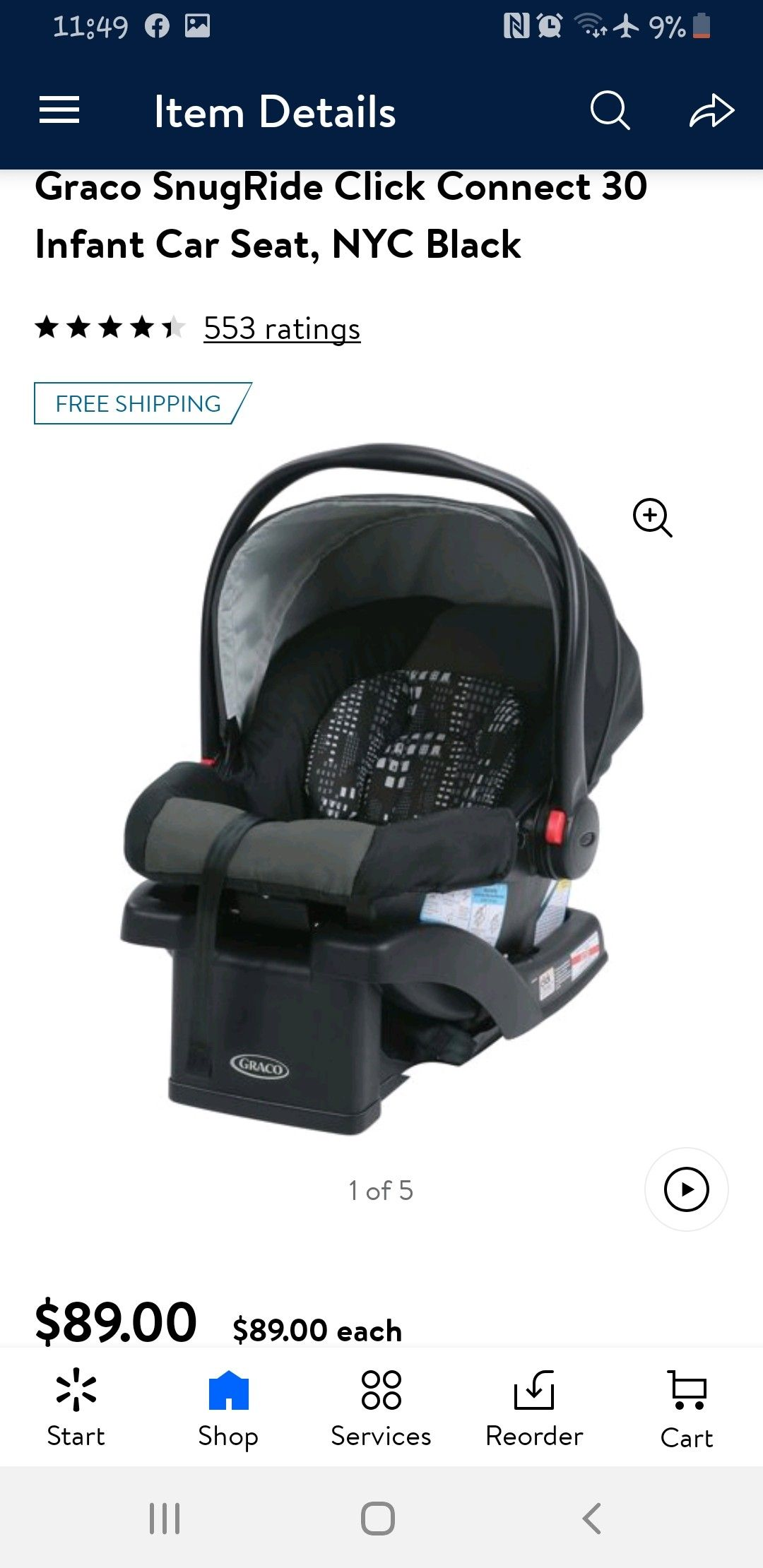 Graco. Snug ride 30. Click connect carseat to base