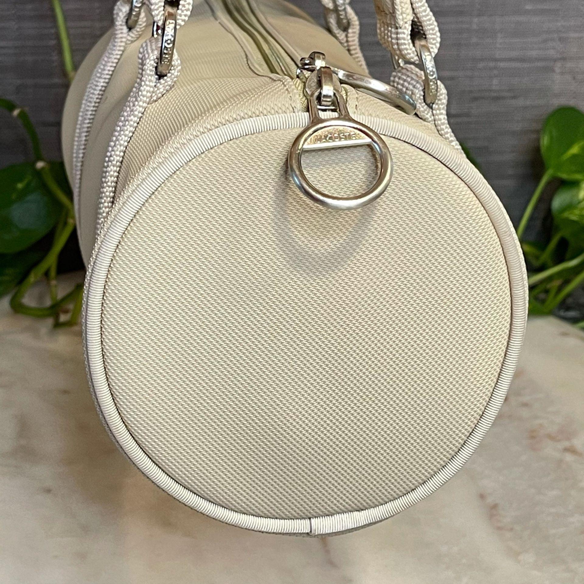 LACOSTE Summer Sand Roll Bag Khaki Bag NWOT