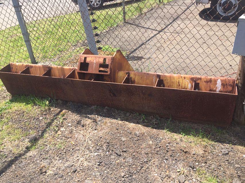 Gradeall Trenching Bucket, Grading Bucket& Rare duck Foot& Ford 6' York Rake