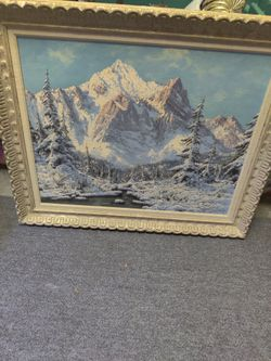 Hungarian Laszlo Neogrady 1(contact info removed) Antique oil on canvas Landscape painting Thumbnail