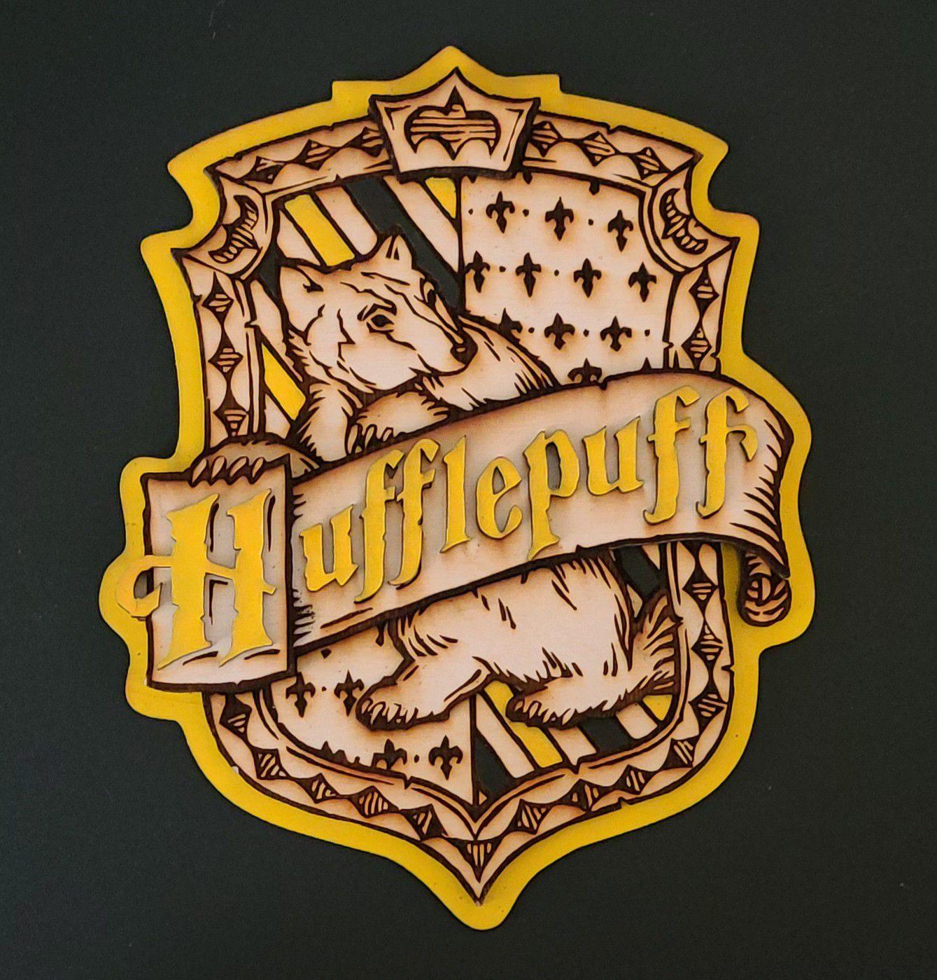 Harry Potter 3D Wood House Crest