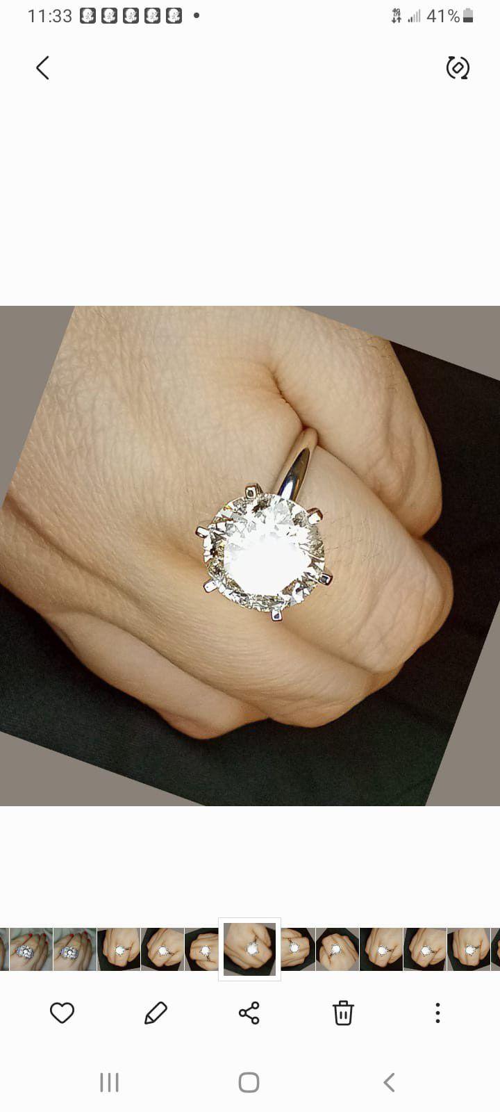 3.50 carat solitaire platinum diamond engagement ring