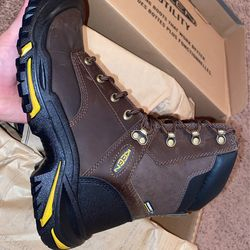 Keen Steel Boots, Brown, Size 7 & 7.5 Thumbnail