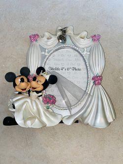 "Disney Parks Exclusive Mickey Minnie Wedding Frame 3D 4"" x 6 Thumbnail"