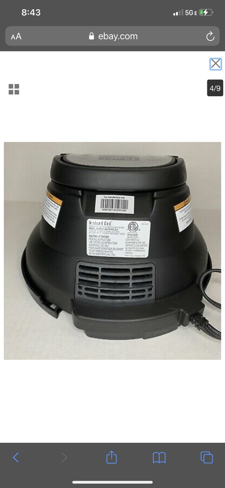 Air Fryer Instant Pot Lid
