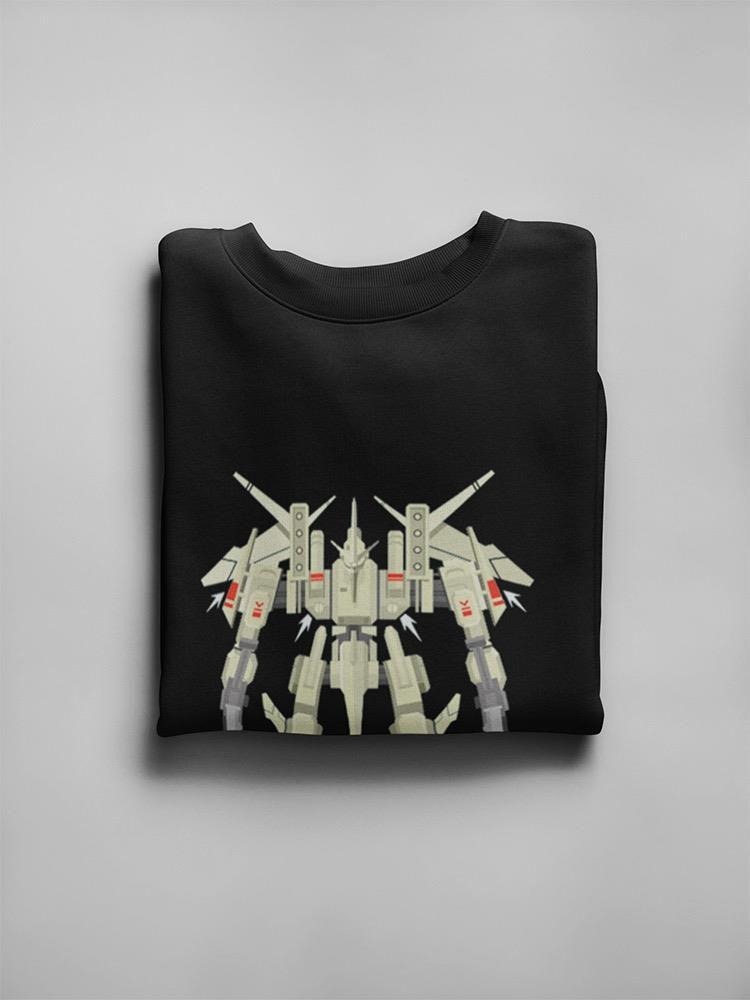 Smartprints Military Robot Mecha Design Sweatshirt Men's -Image by Shutterstock Black Size S
