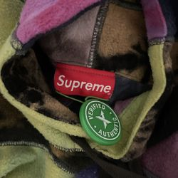 Supreme Patchwork Tie Dye Hoodie Thumbnail