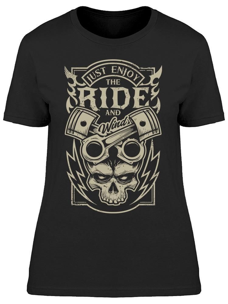 Smartprints Just Enjoy The Ride, And Wind Tee Women's -Image by Shutterstock Black Size S