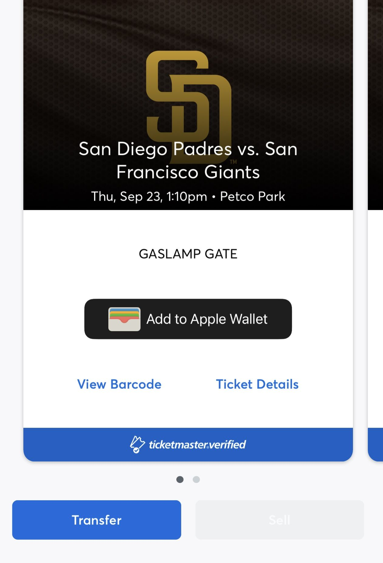 2 Padres Tickets For Thursday Night Vs Giants