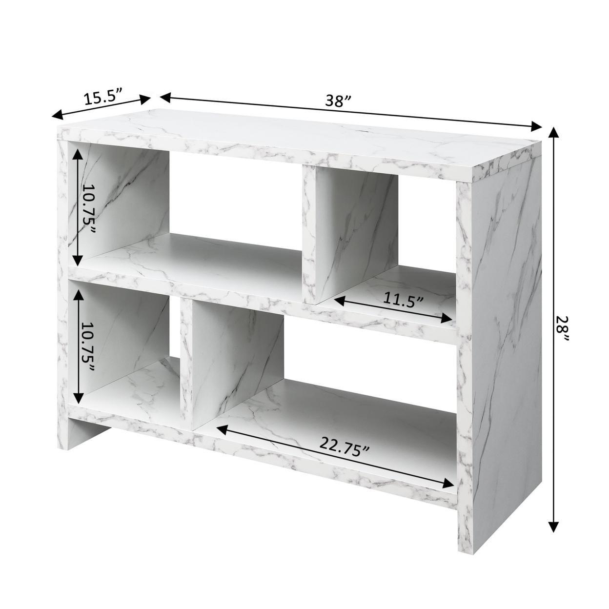 Northfield Console 3 Tier Bookcase, White