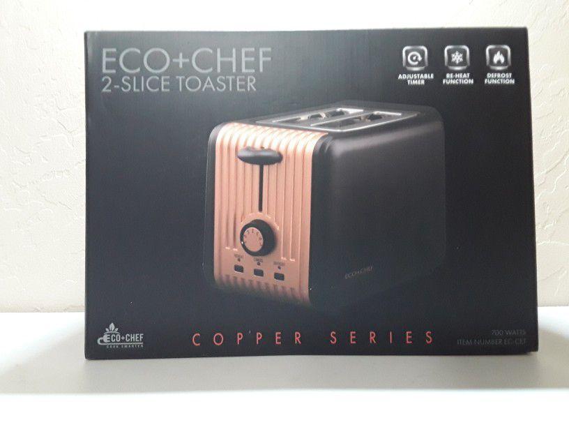 ECO+CHEF COPPER SERIES COPPER 2-SLICE TOASTER Model EC-CET