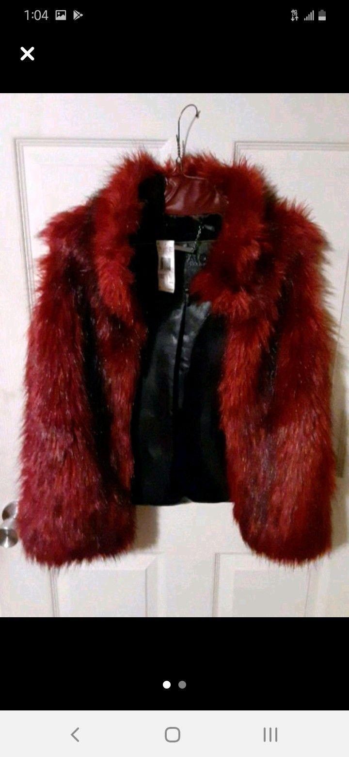 David Bitton Buffalo Magenta Fur Vest