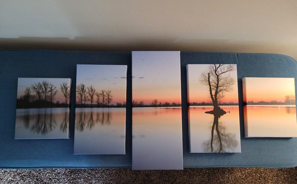 Beautiful 5 Piece Canvas Picture