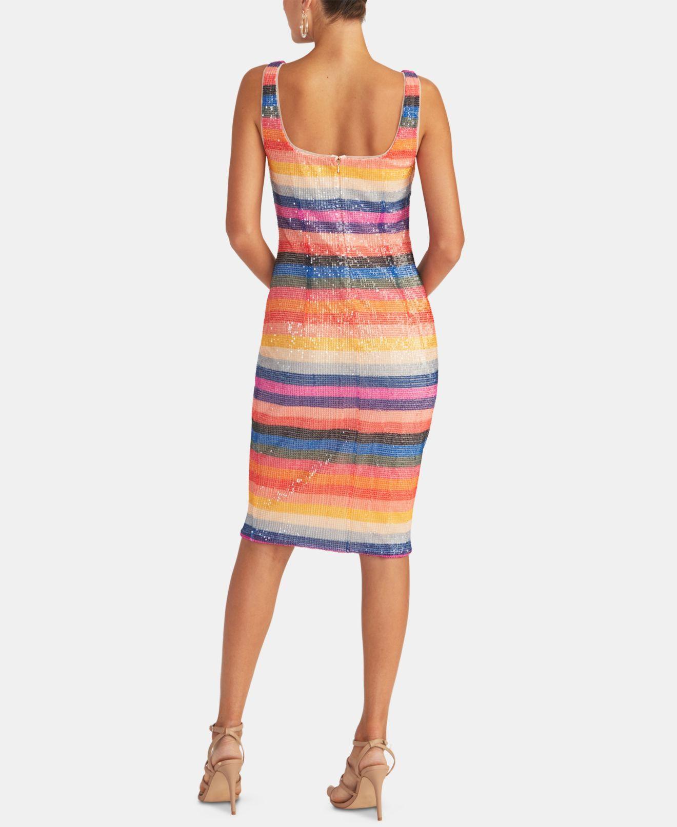 Rachel Rachel Roy Women's Dress Blue Size XL Tank Sequined Sheath