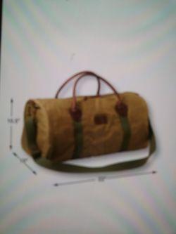 LL Bean Waxed Canvas Duffle bag weekender Thumbnail