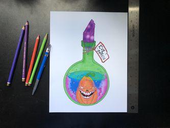 Pumpkin Art Print Thumbnail