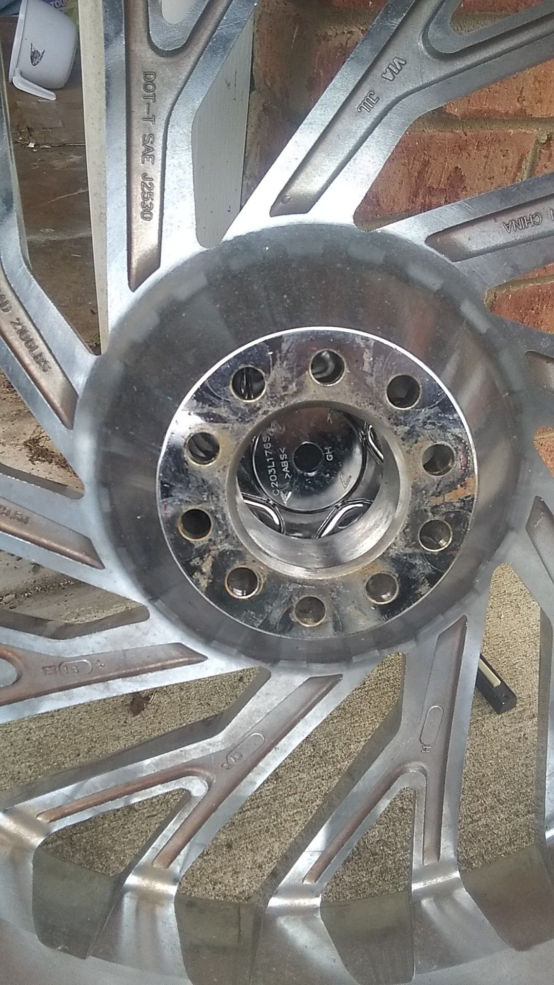 "26"" inch all chrome azara 505 Rims and tires"
