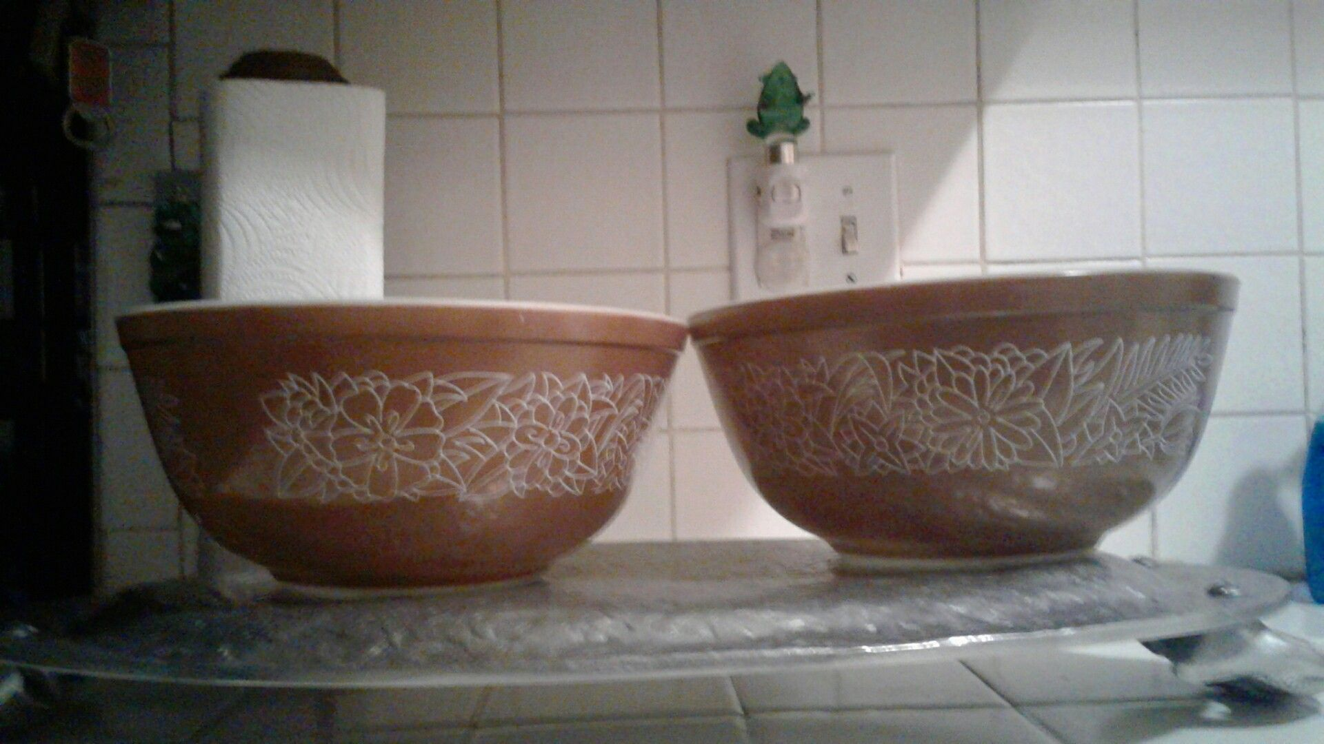 Pyrex mixing bowls $15 for both