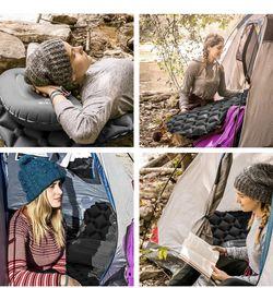 HiHiker Camping Sleeping Pad– Ultralight Backpacking Air Mattress w/Compact Carrying Bag –Sleeping Mat for Hiking Traveling & Outdoor Activities. (Gra Thumbnail