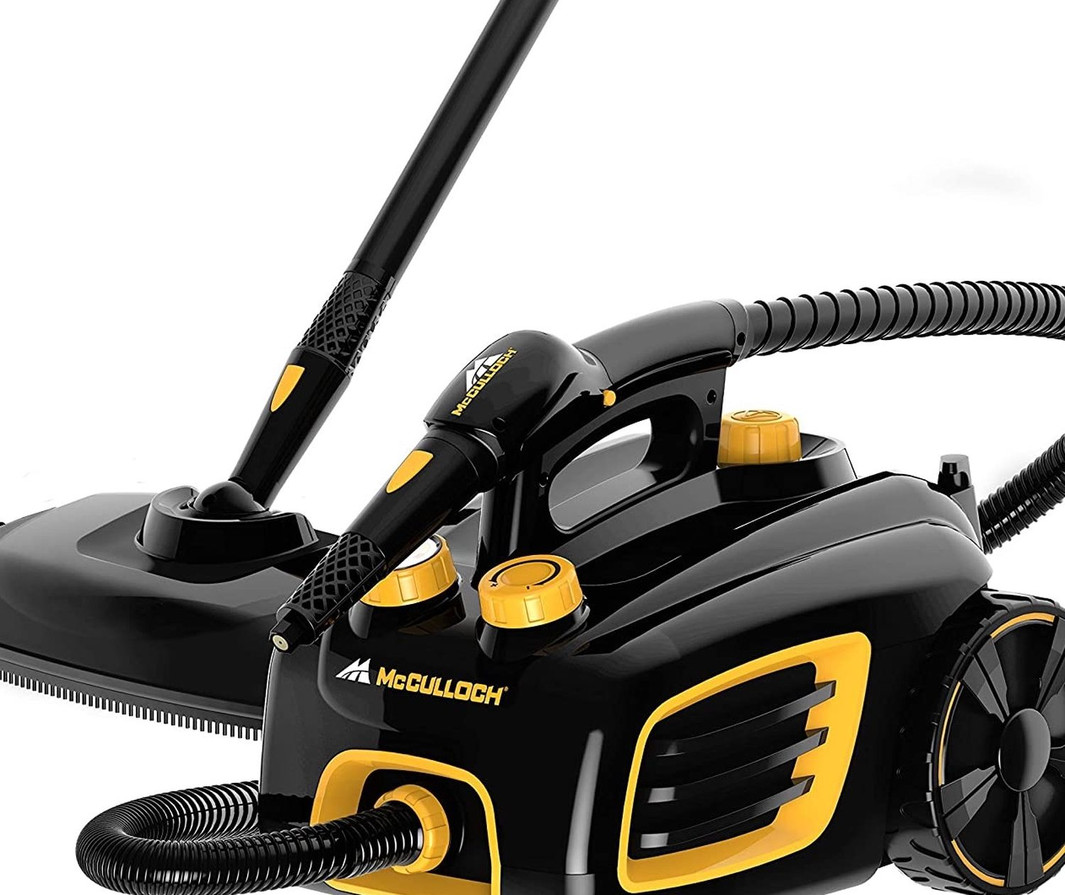 McCulloch MC1375 Canister Steam Cleaner with 20 Accessories, Extra-Long Power Cord, Chemical-Free Cleaning for Most Floors, Counters, Appliances, Wind