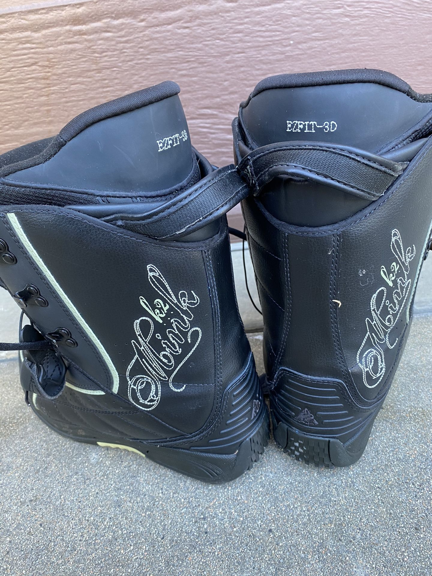 Burton Snowboard And Travel Bag And Boots