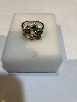Multi Colored Tourmaline Ring Thumbnail