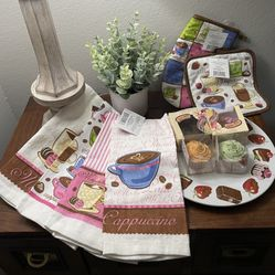Coffee Theme Kitchen Towels & Pot Holders Thumbnail