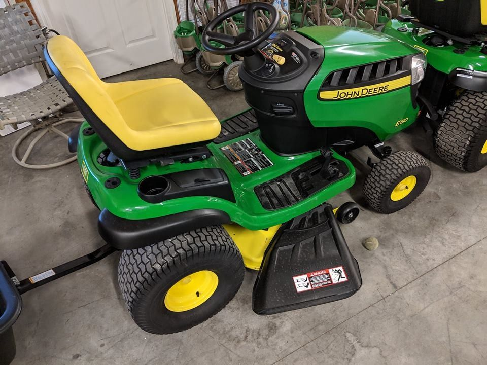 Brand new John Deere E130 22-HP V-twin Side By Side Hydrostatic 42-in Riding Lawn Mower with Mulching Capability (Kit Sold Separately)