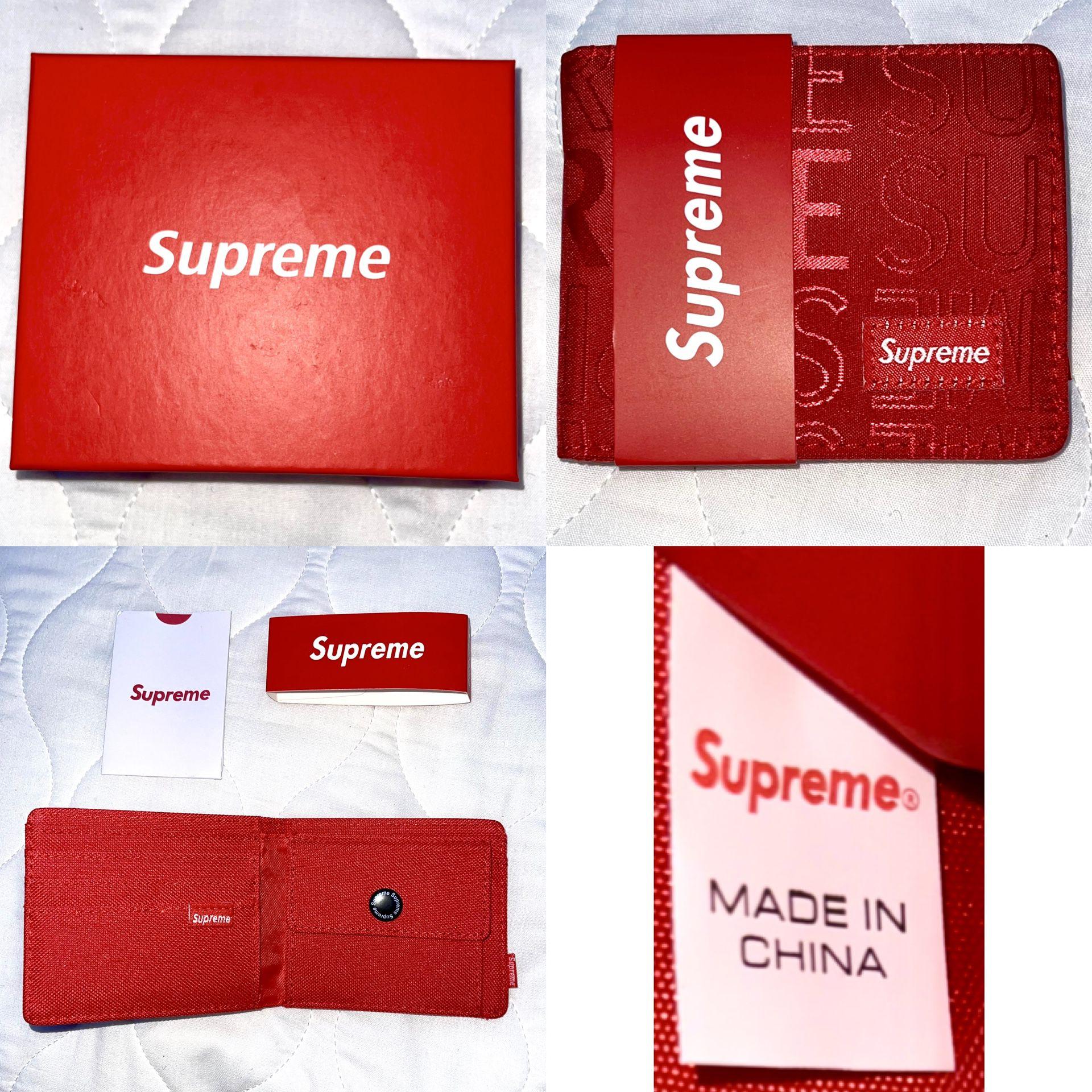 Supreme Slender Wallet Red *MAKE OFFERS*
