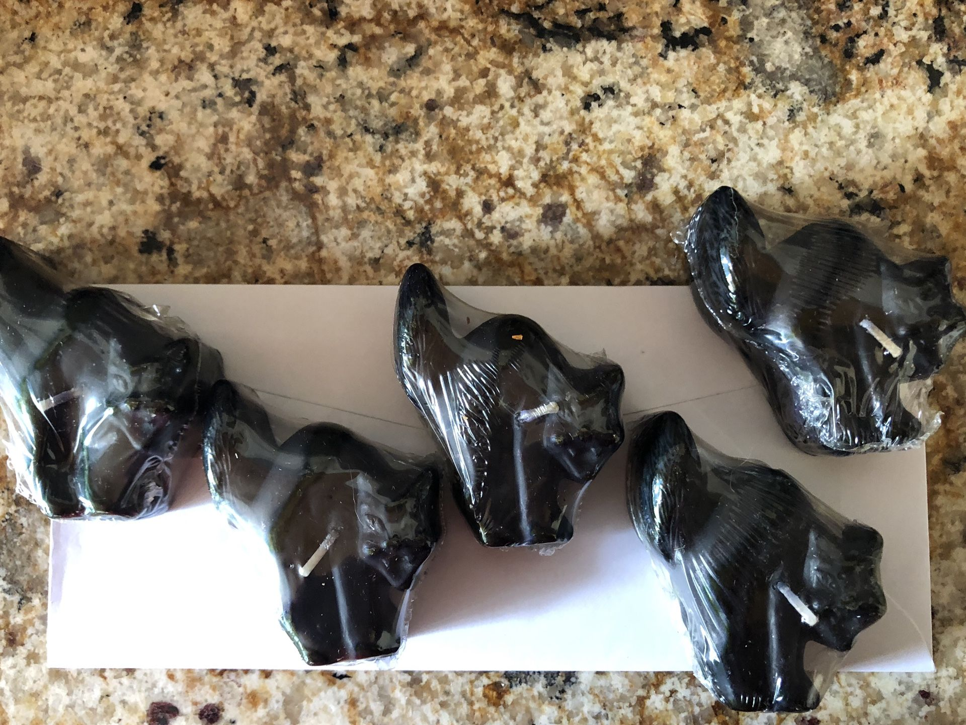 Pottery Barn floating Black cat candles set of 5