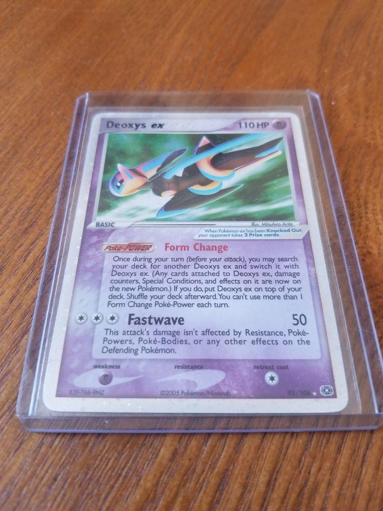 Pokemon EX Emerald *Holo*Rare Deoxys EX 93/106 NM/MINT Condition!!