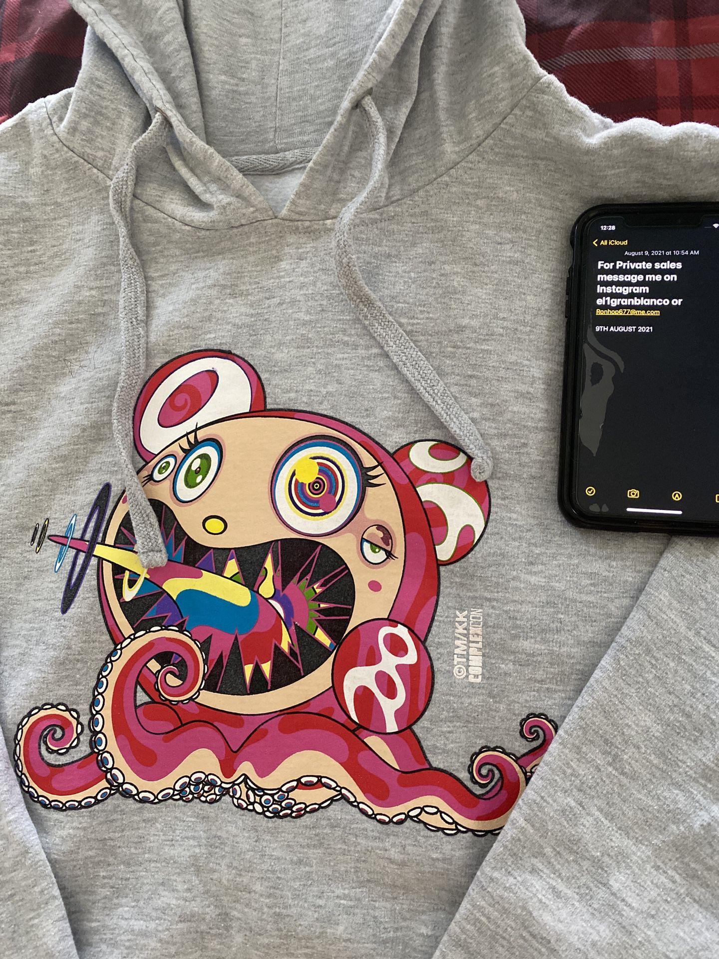 Takashi Murakami Complexcon 2017 Hoodie Mr Dob Dobtopus Logo Long Beach Size L