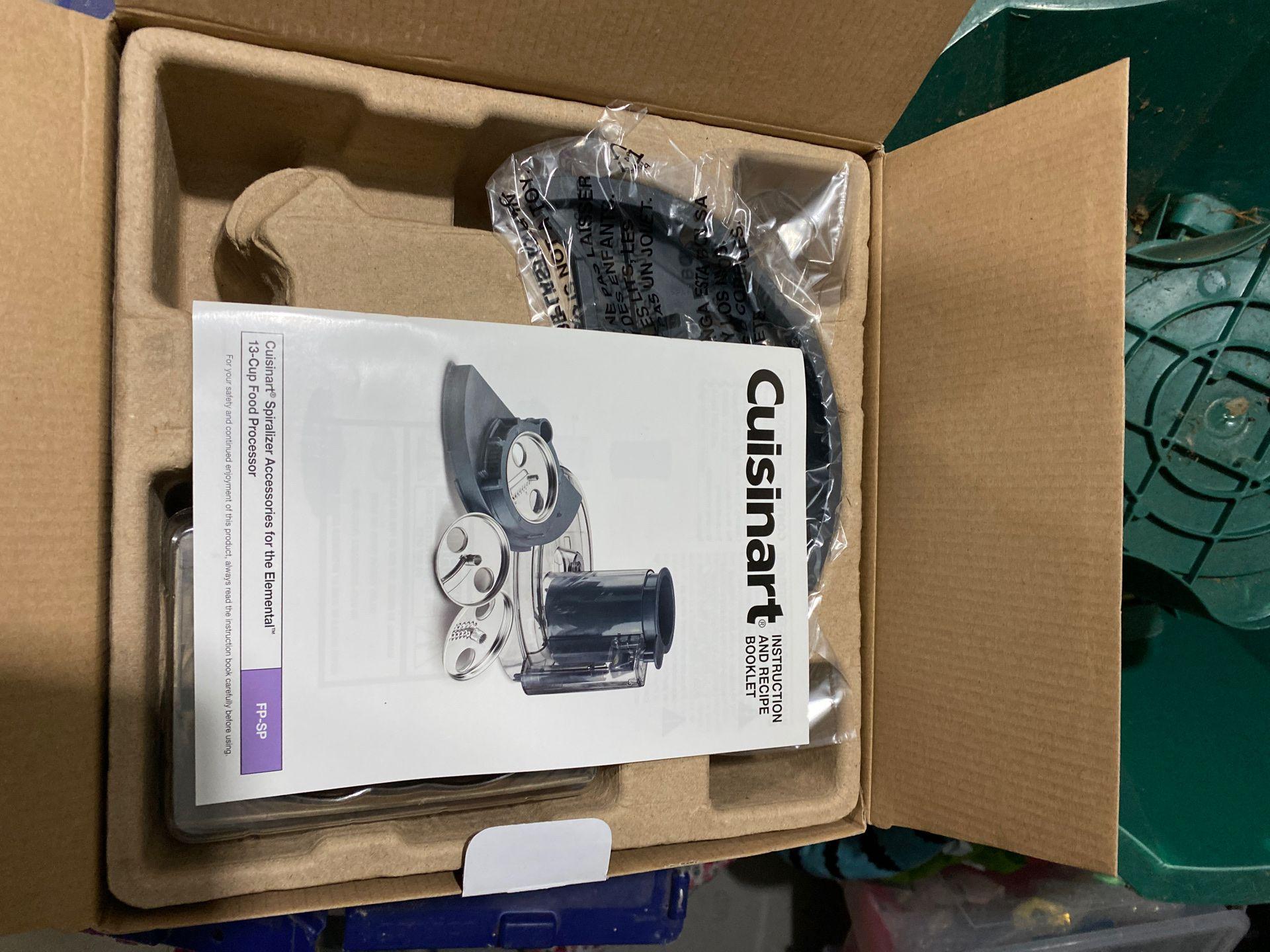 New in Box: Cuisinart Food Processor Spiralizer Set