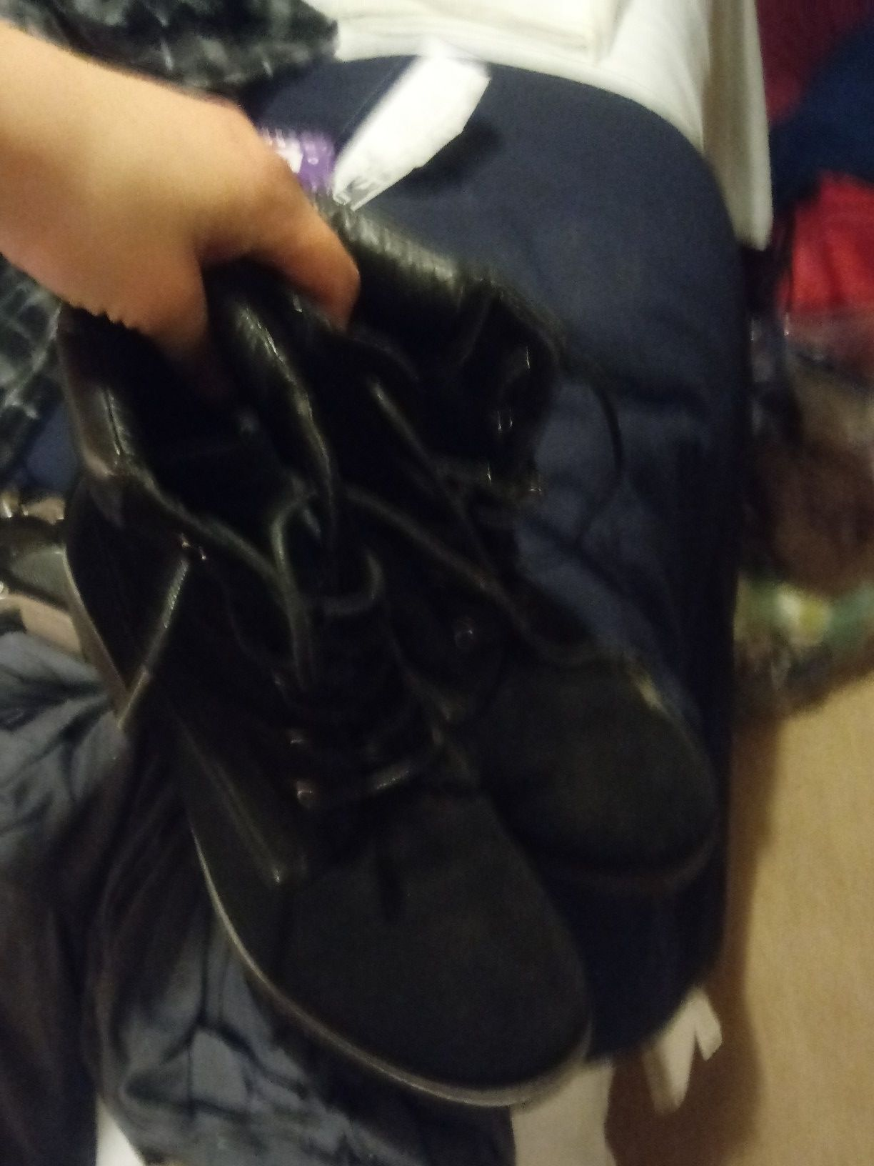 Boots for sale...BLACK