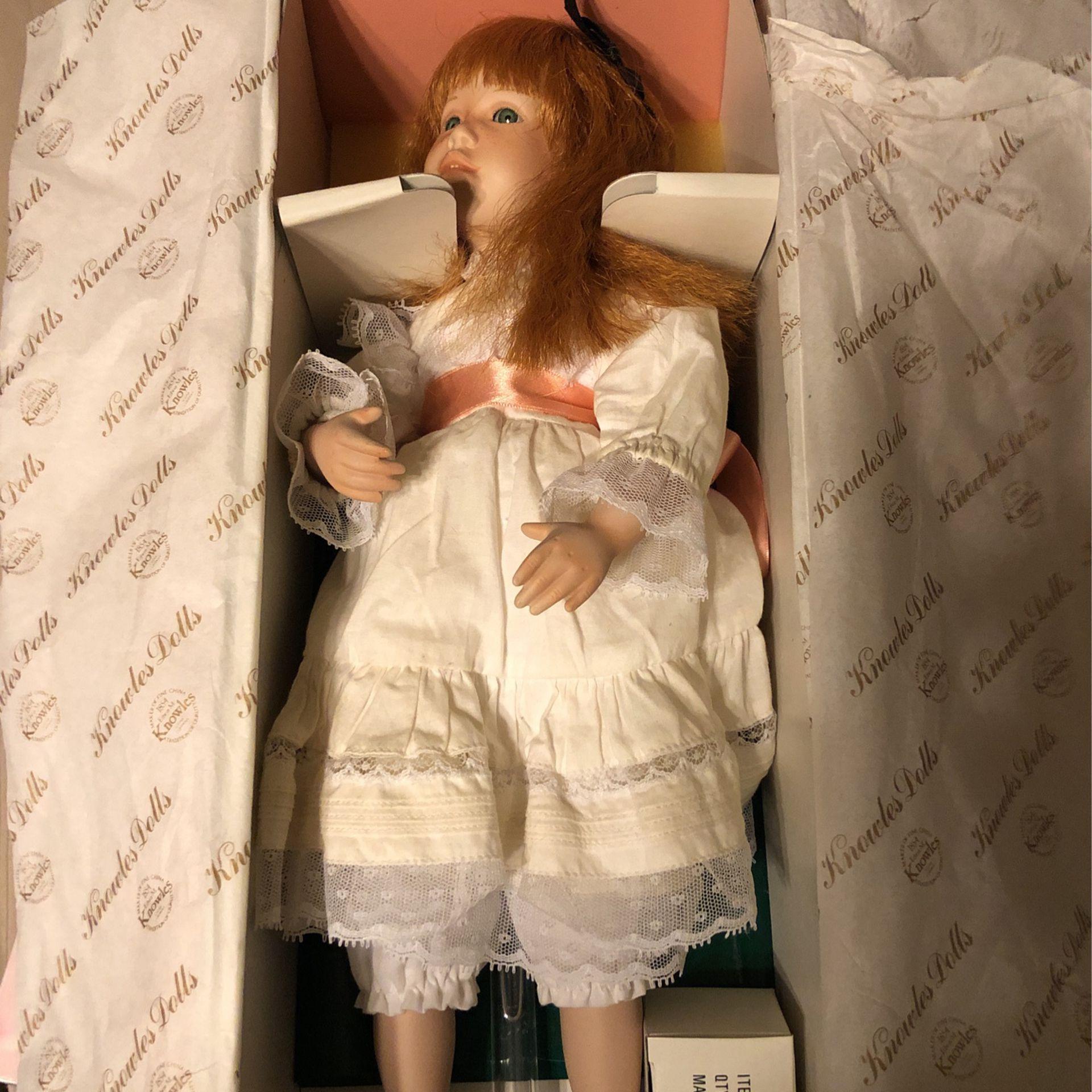 Polly's Tea Party Porcelain Doll
