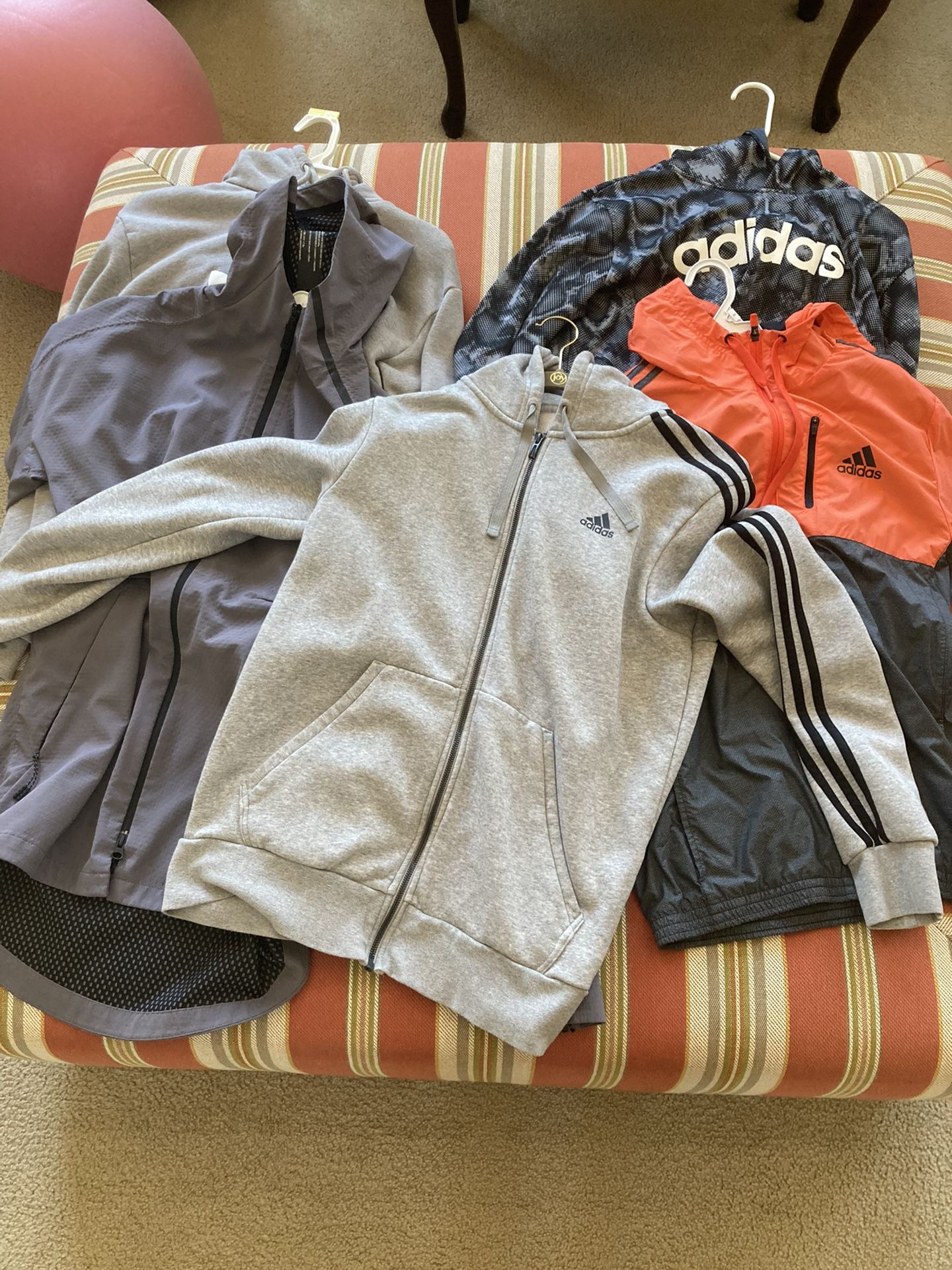 5 Adidas Jackets Size S And M