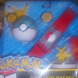 Pokemon Clip N Carry Poke Ball Belt Pikachu Thumbnail