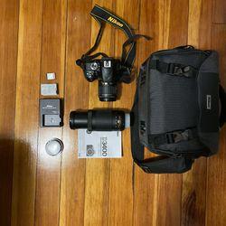 Nikon D3400 DSLR camera with accessories Thumbnail