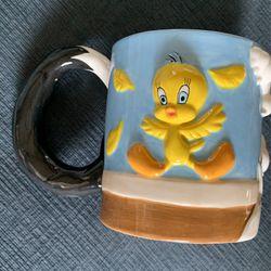 $15!! 1995 Sylvester & Tweety Mug WB  Thumbnail