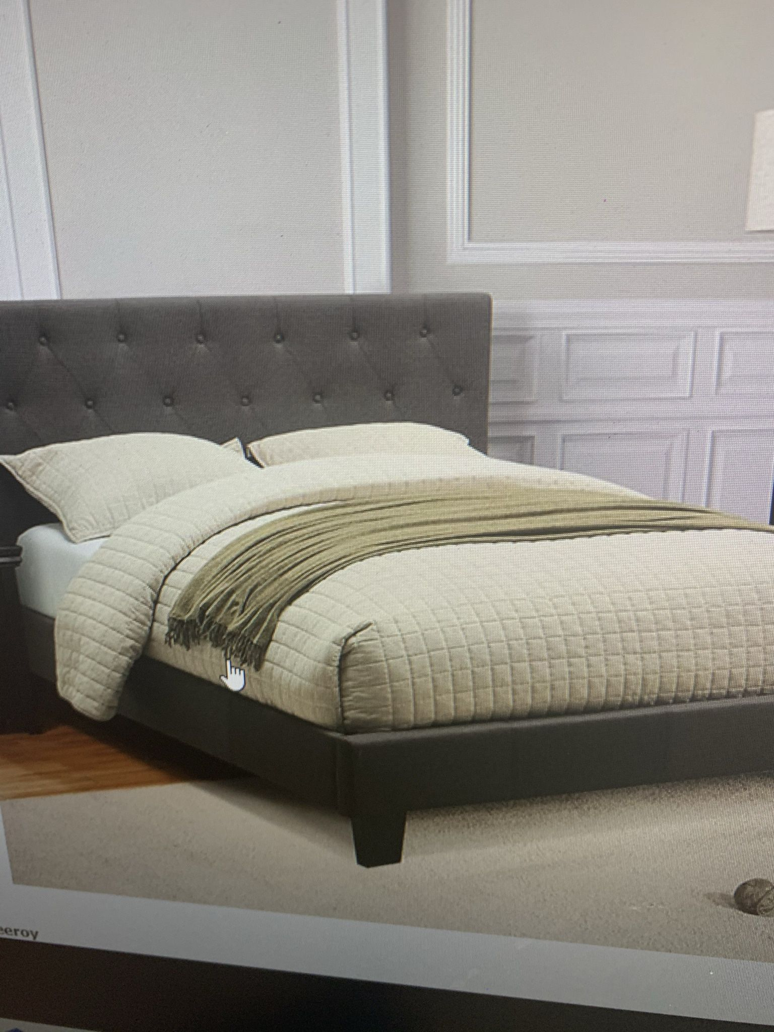 Queen Platform Bed Frame ( Mattress Not Included ) ON SALE