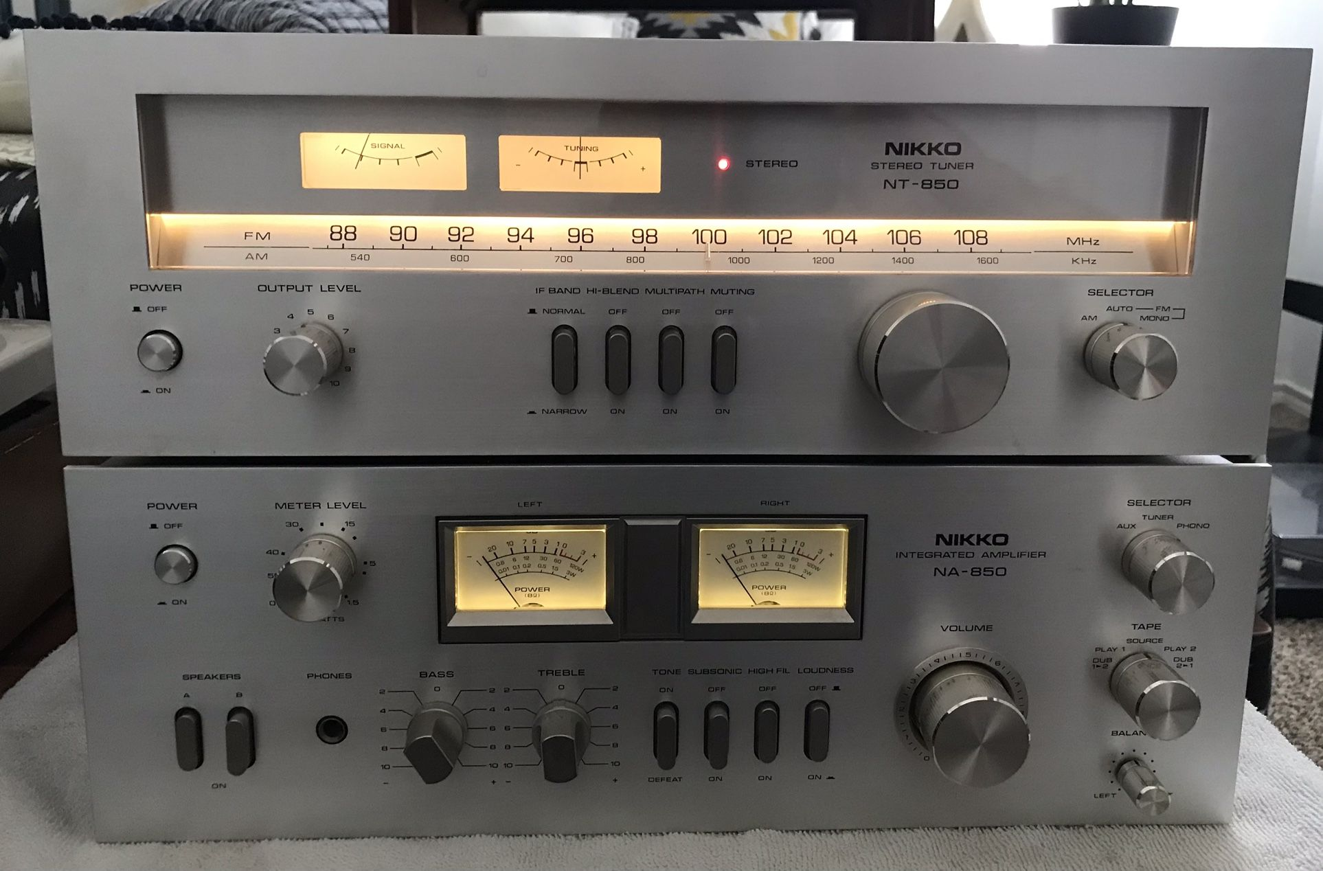 Vintage Nikko NA-850 Integrated Stereo Amplifier + NT-850 Tuner