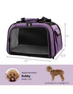 Pet Carrier for Dog and Cats, Airline Approved Soft-Sided Pet Travel Carrier,Portable Kennel for Puppies Thumbnail