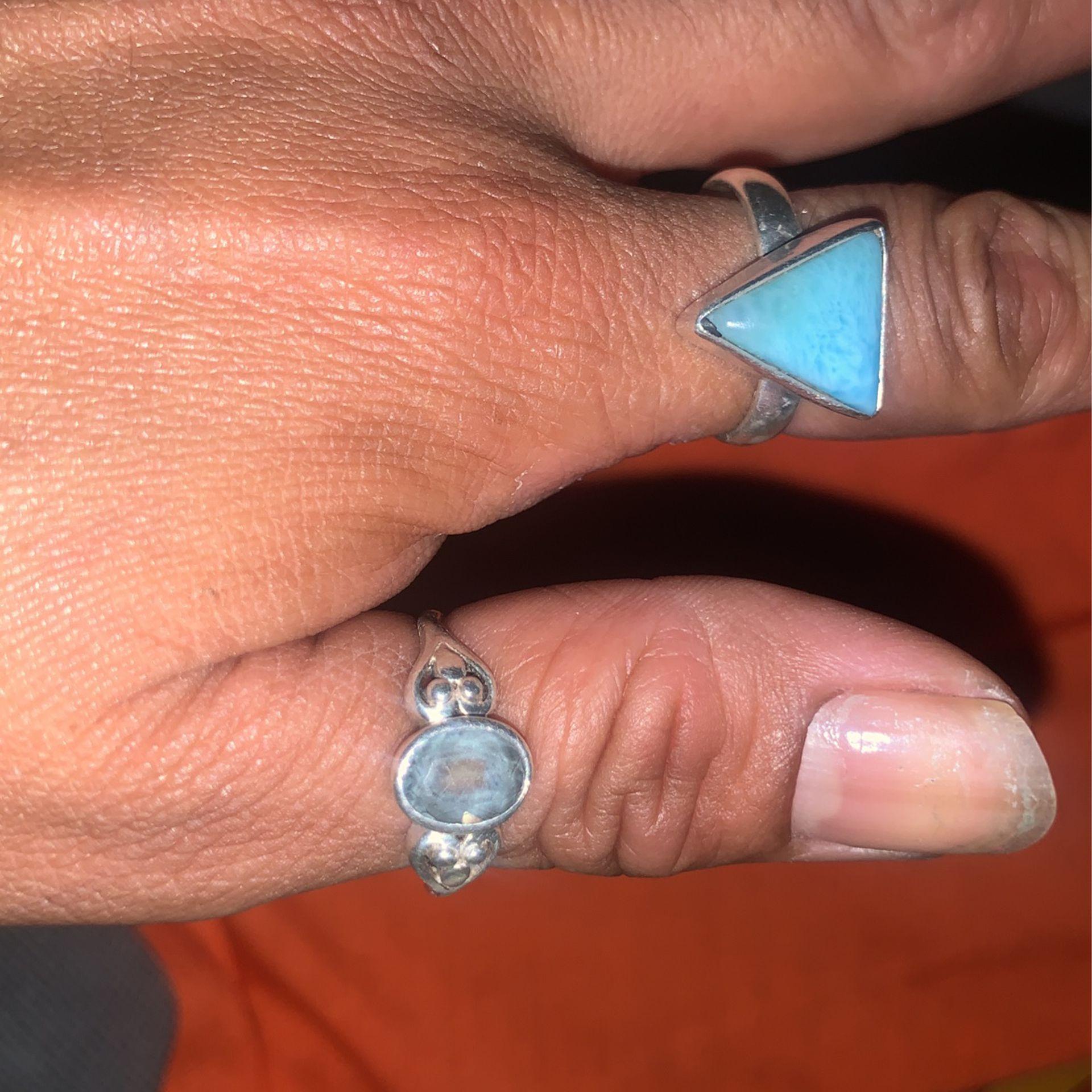 Silver 9 Rings