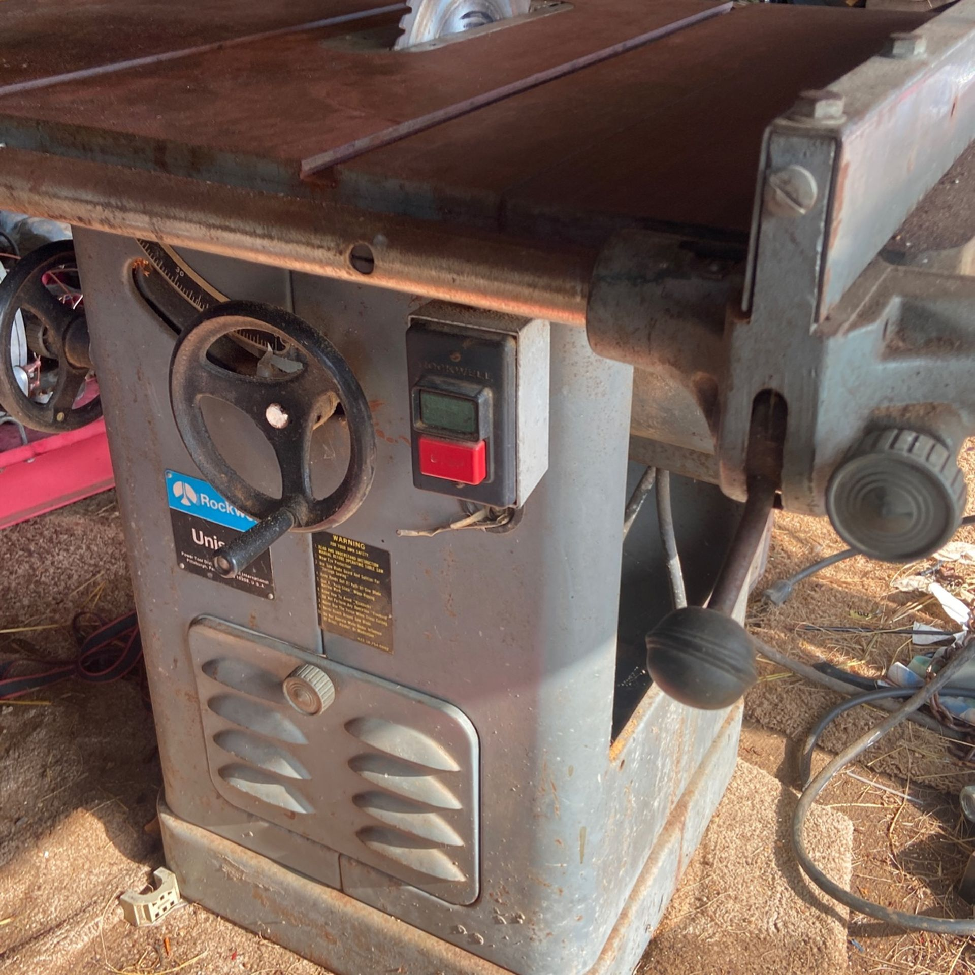 Rockwell  3 Phase Industrial  Table Saw