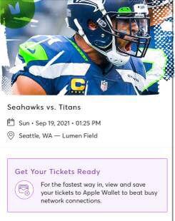 Seahawks Vs Titans Home Opener Sunday.19th